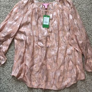 Lilly Pulitzer silk top.
